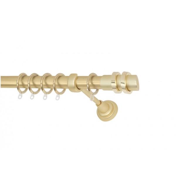 Μεταλλικό Κουρτινόξυλο Πτυσσόμενο Ø25 No4 Χρυσό/ Χρυσό-Ματ 1.40-2.50cm Μεταλλικά Κουρτινόξυλα